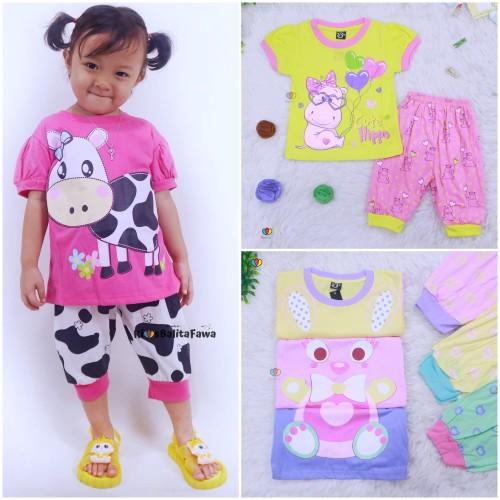 Foto Produk Setelan Momo Kids Size 1-10 Tahun / EXPORT Quality Baju Karakter Kaos - S dari Kios Balita Fawa