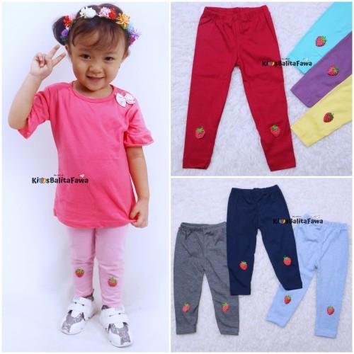 Foto Produk Legging Strawberry uk 1-4 Tahun / Celana Panjang Anak Leging Anak - 1th dari Kios Balita Fawa
