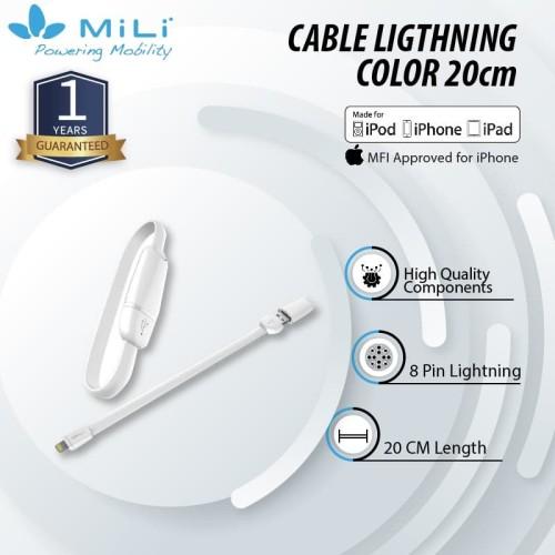 Foto Produk MiLi Innovative Wristband 8pin Ligthning Cable 20cm dari Mili Official Store