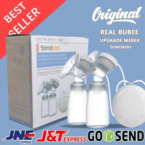 Foto Produk Real Bubee Double Electric Breast Pump | Pompa ASI Elektrik Ganda ORI dari teknologeek