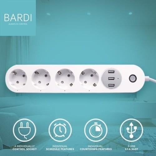 Foto Produk BARDI Smart Extention Power Strip Smart Stop Kontak Socket Plug Wifi dari infitechindo