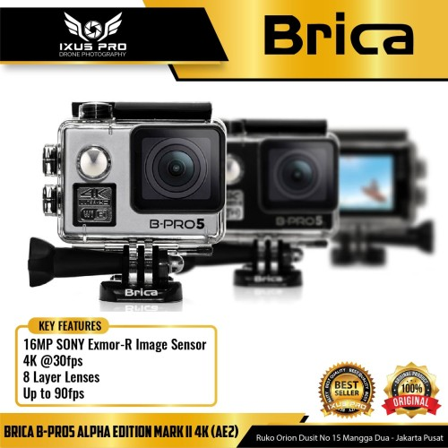 Foto Produk BRICA B-PRO 5 Alpha Edition Mark II ( BRICA AE2 ) 4K WIFI Action Cam dari ixuspro