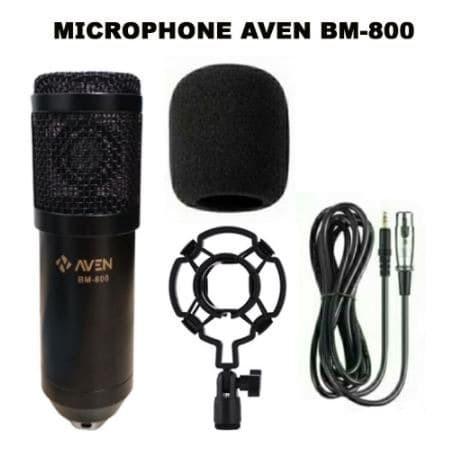 Foto Produk Microphone AVEN BM-800 Mikrofon Smule Condenser BM800 Shockproof Mount dari mofan accesories