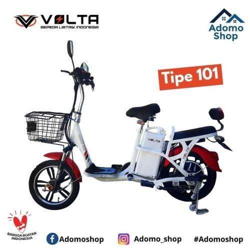 Foto Produk Volta Sepeda Listrik ( electric bicycle ) - Tipe 101 - Putih dari Adomo Shop