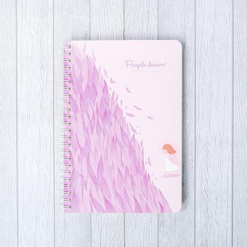 Foto Produk Purple Dream Spiral Ruled Notebook A5 / Buku Tulis A5 / Buku Catatan - VARIAN A dari Pinkabulous