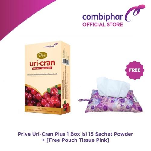 Foto Produk Prive Uri-Cran Plus 15 sachet - Untuk Saluran Kemih- Free Tissue Pouch dari Combiphar Official Store