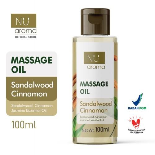 Foto Produk Nu Aroma Massage Oil / Minyak Pijat Sandalwood Cinnamon dari Nu Aroma