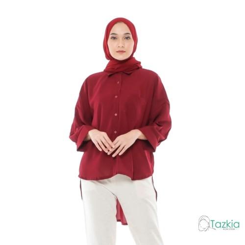 Foto Produk Atasan Muslim Wanita   Oversized Blouse Maroon  Original dari Tazkia Hijab Store