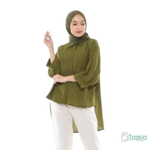 Foto Produk Atasan Muslim Wanita   Oversized Blouse Army   Original dari Tazkia Hijab Store