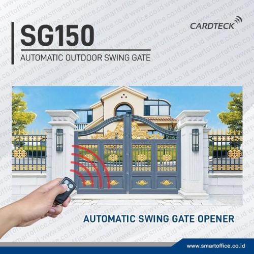 Foto Produk 150kg Automatic Swing Gate Opener Pintu Gerbang Swing Cardteck SG150 dari FOCUS SECURITY STORE