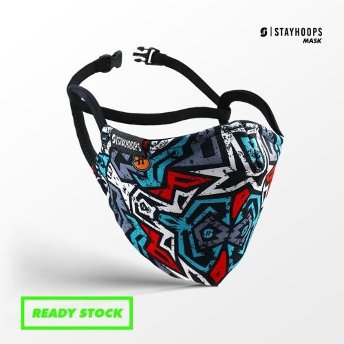 Foto Produk Stayhoops - Masker Fullprint 2 Layer - Non Medis - gue basket dari Stayhoops official