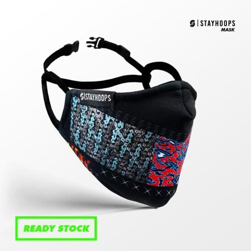 Foto Produk Stayhoops - Masker Fullprint 2 Layer - Non Medis - Primeval dari Stayhoops official