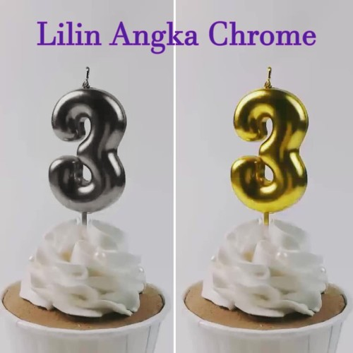 Foto Produk Lilin Angka Chrome / Lilin Ulang Tahun - 1 dari Balonasia