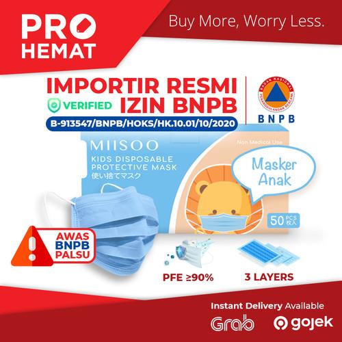 Foto Produk Masker Anak Face Mask Earloop 50s Masker Wajah Kesehatan 3ply BNPB - Anak 50pcs dari PROHEMAT