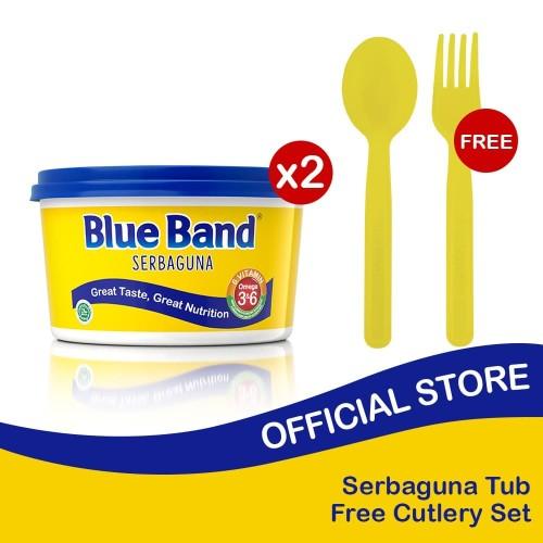 Foto Produk Blue Band Serbaguna Tub 250gr isi 2 Free Cutlery Set dari Blue Band Official Store
