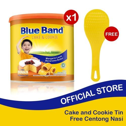 Foto Produk Blue Band Cake and Cookie Margarine Tin 2kg Free Centong Nasi dari Blue Band Official Store