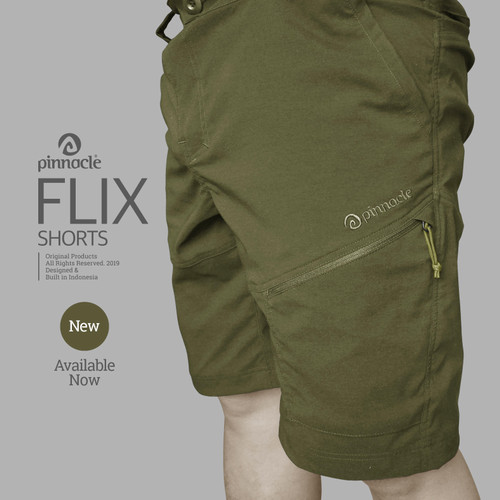 Foto Produk Pinnacle FLIX Short Olive, Celana Pinnacle - S dari Pinnacle Pro