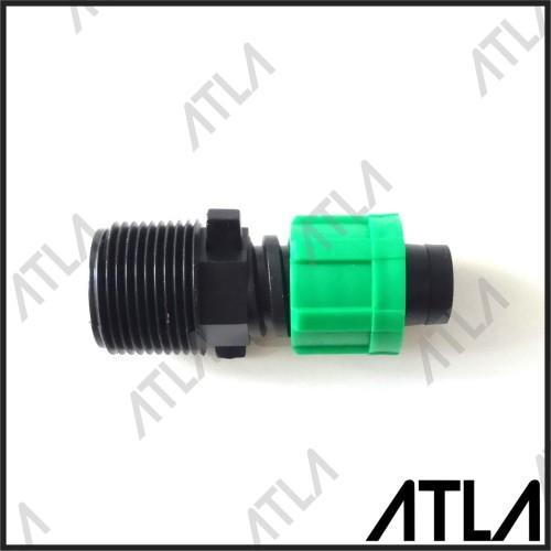 """Foto Produk Konektor Nepel Drat Laki 3/4"""" ke Selang Drip Tape Irigasi Tetes ICT003 dari Atla Agrikultur"""