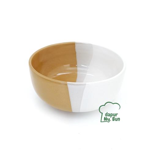 Foto Produk Mangkok Bulat 2 Warna / Mangkok Two Tone / Ukuran 14cm - Mocha dari Dapur Ny.Bun