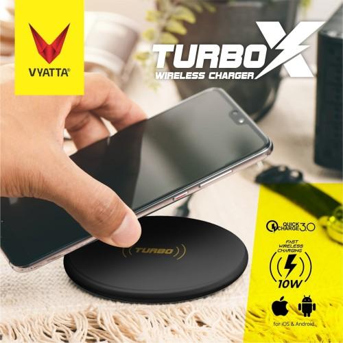 Foto Produk VYATTA Turbo X Fast Wireless Charger 10W - Android & iPhone - Brilliant Black dari VYATTA INDONESIA