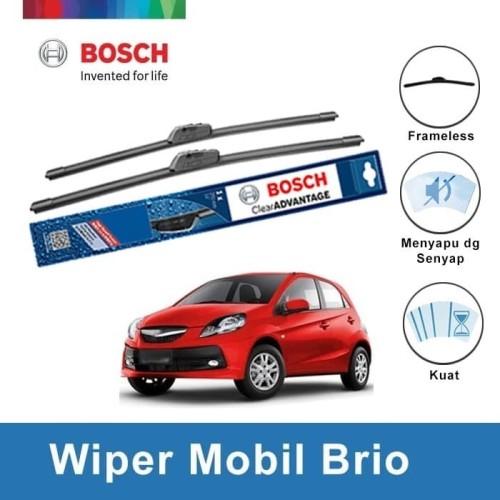 "Foto Produk Bosch Sepasang Wiper Mobil Honda Brio Frameless New Clear 22"" & 14"" dari BOSCH by Klik Onderdil"