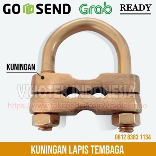 Foto Produk Klem U Bolt 2 Way / Grouding Clamp 2 Jalur / Clamp Grounding 2 Hole dari Visiotek Indonesia