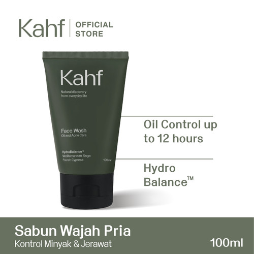 Foto Produk Kahf Oil and Acne Care Face Wash 100 ml dari Kahf Official