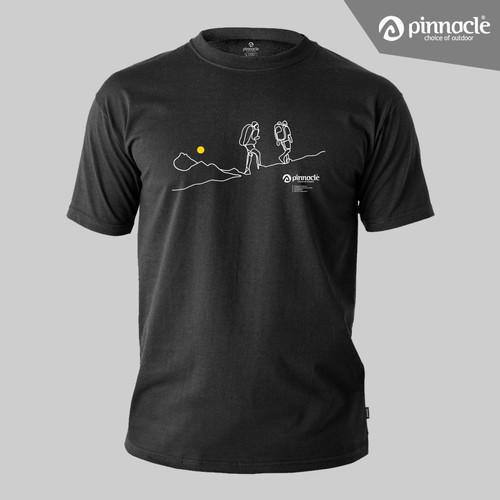 Foto Produk Pinnacle T-Shirt Trekking Outline - Kaos Pinnacle - M dari Pinnacle Pro