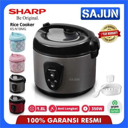Foto Produk Rice Cooker Sharp KS-N18MG Penanak Nasi Kapasitas 1.8 Liter - Merah dari Sajun Electronic