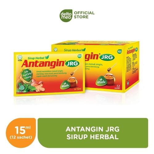 Foto Produk Antangin JRG Sirup Herbal Box (12 sachet) - Mengatasi Masuk Angin dari Deltomed Store