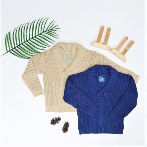 Foto Produk Little Bubba Sweater Rajut Navy - Sweater bayi - Butter Milk, 18-24 Bulan dari Little Bubba