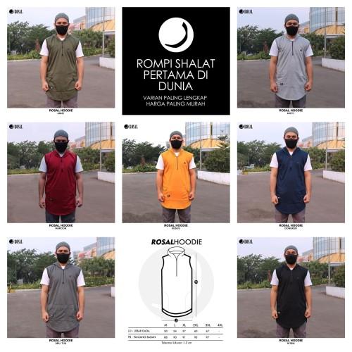 Foto Produk ROSAL HOODIE - Rompi Pakaian Sholat Solat Baju Koko Gamis Pakistan - Biru Dongker, L dari HAVI Store