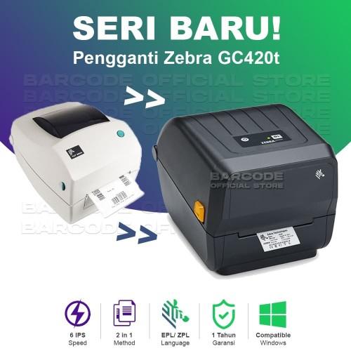 Foto Produk BARCODE PRINTER ZEBRA GC-420T / GC 420 - PRINTER BARCODE ZEBRA GC420 T dari Barcode Official Store
