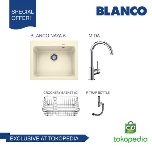 Foto Produk BLANCO Naya 6 Silgranit + BLANCO MIDA Chrome Mixer Taps - Jasmine dari BLANCO Official Store