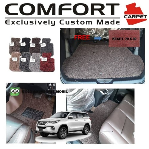 Foto Produk Karpet Mobil Comfort Premium Fortuner 3 baris + Bagasi dari Boss Aksesoris Mobil