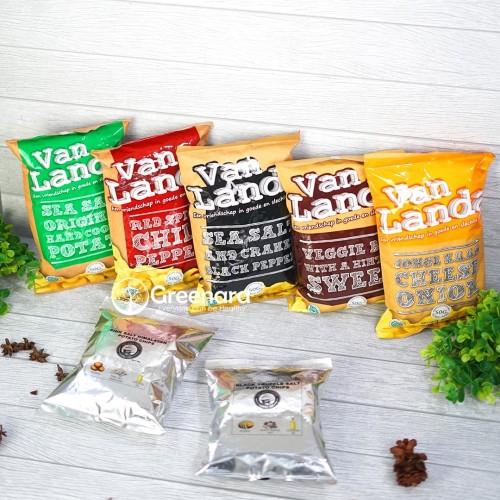 Foto Produk Van Landa Potato Chips / Snack Sehat Keripik Kentang Non MSG - CHEESE ONION dari Greenara
