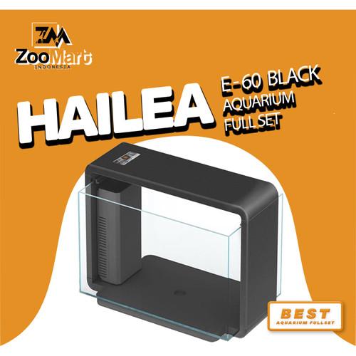 Foto Produk Hailea E-60 Aquarium Full Set / Aquarium / Lampu Aquarium / Filter - Hitam dari ZooMart