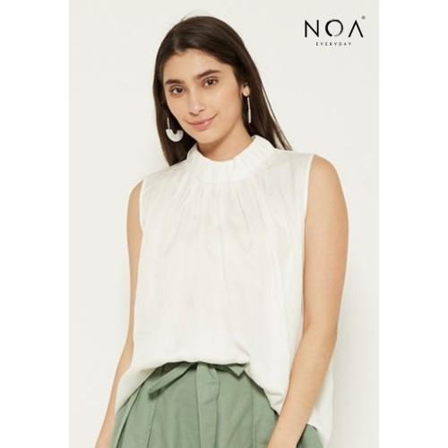 Foto Produk NOA everyday Atasan Wanita Blouse Wanita KUMI Sleeveless Women Top - Off White, S dari Noaeveryday