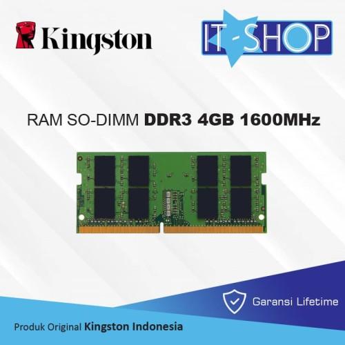 Foto Produk Kingston Memory Sodimm 4GB DDR3 1600 MHz dari IT-SHOP-ONLINE