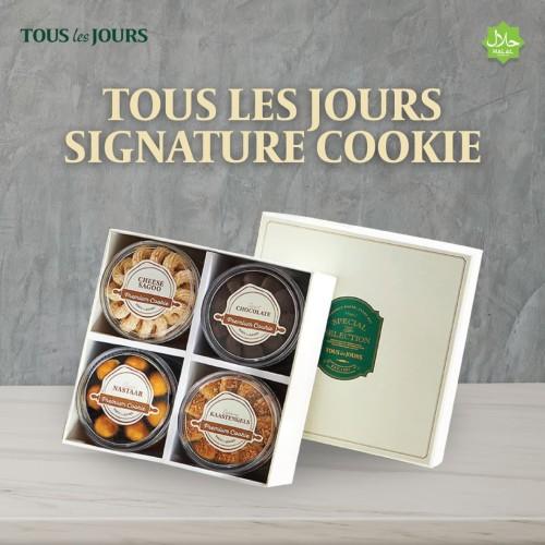 Foto Produk TOUS les JOURS Signature Cookie 4 In 1 / Kue Kering dari TOUS les JOURS Official