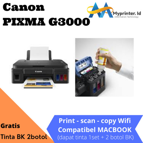 Foto Produk Canon G3000 Printer - Hitam [All In One/WiFi] dari myprinter.id