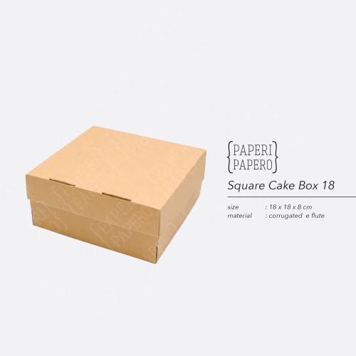 Foto Produk Cake Box - Kotak / Dus / Boks Kue Bolu (18 x 18 x 8 cm ) dari {Paperi Papero}
