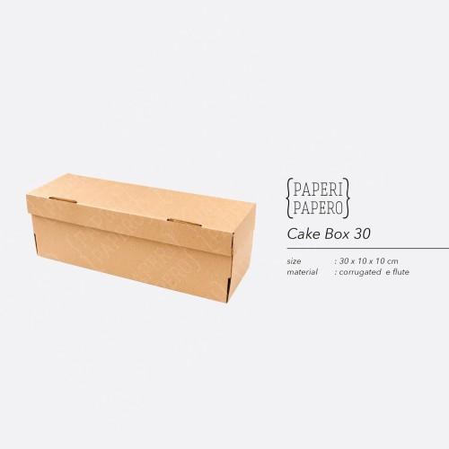 Foto Produk Cake Box - Kotak / Dus / Box Kue Brownies / Bolu Gulung (30x10x10 cm) dari {Paperi Papero}