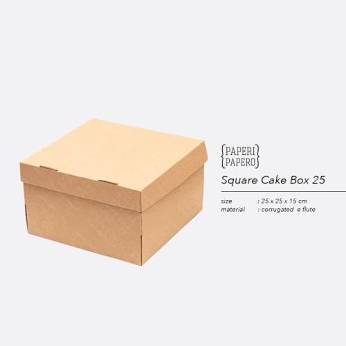 Foto Produk Cake Box - Kotak / Dus / Boks Kue Bolu (25 x 25 x 15 cm) dari {Paperi Papero}