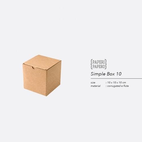 Foto Produk Simple Square Box - Boks Kardus Kotak Mug / Gelas / Hampers (10x10x10) dari {Paperi Papero}