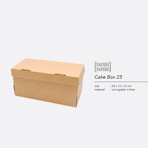 Foto Produk Cake Box - Kotak / Dus / Boks Kue Brownies dari Paperi Papero