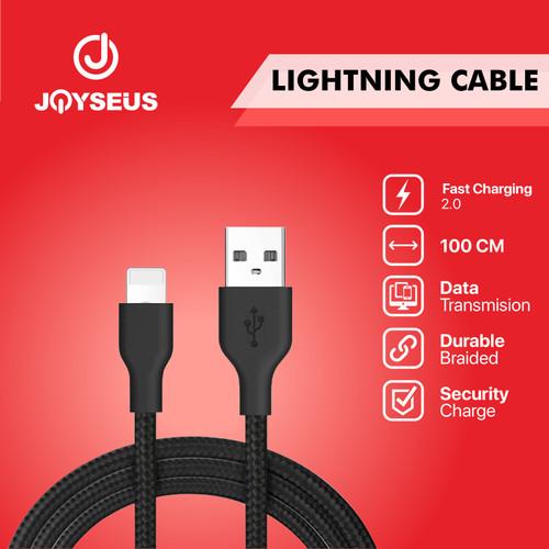 Foto Produk Kable data Apple Lighting Iphone JOYSEUS 100 CM Nylon - KB0005-LL - Hitam dari Joyseus Official Store