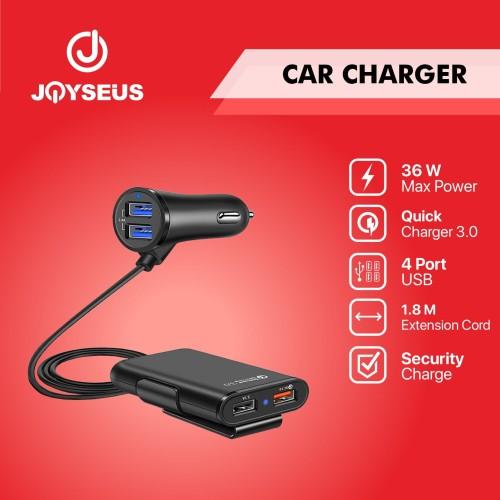 Foto Produk JOYSEUS 4 Ports QC3.0+2.4A+3.1A USB fast charge Car Charger - CM0005 dari Joyseus Official Store