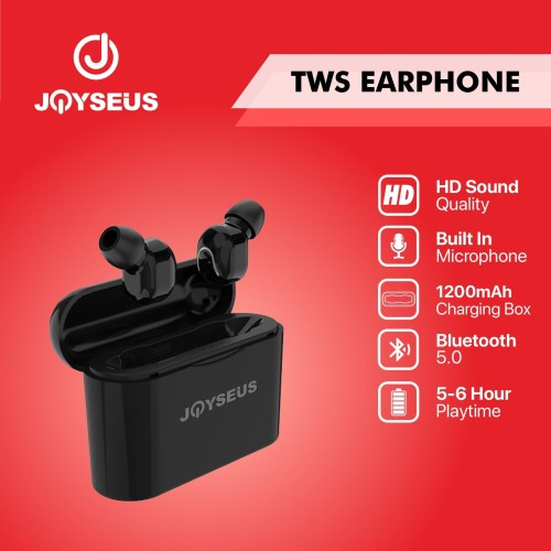 Foto Produk JOYSEUS JOY-T1 TWS headset Ear phone bluetooth Bass Wireless - EP0022 dari Joyseus Official Store