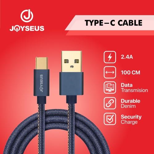 Foto Produk JOYSEUS Type-C USB Cable Cowboy Gold Braided Cable 120CM - KB0003 dari Joyseus Official Store